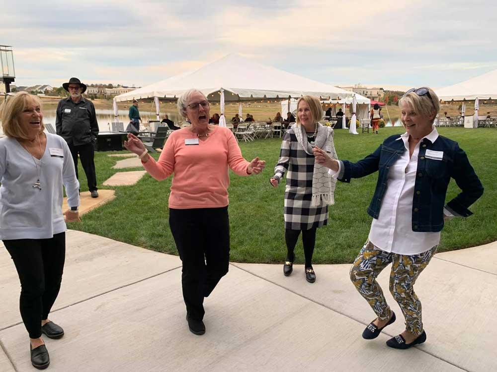 Birchwood residents dancing